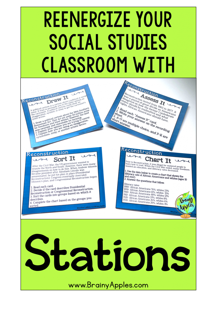FREE STATIONS | 7 WAYS TO STEP AWAY FROM THE LECTURE PODIUM & REVITALIZE YOUR SOCIAL STUDIES CLASSROOM