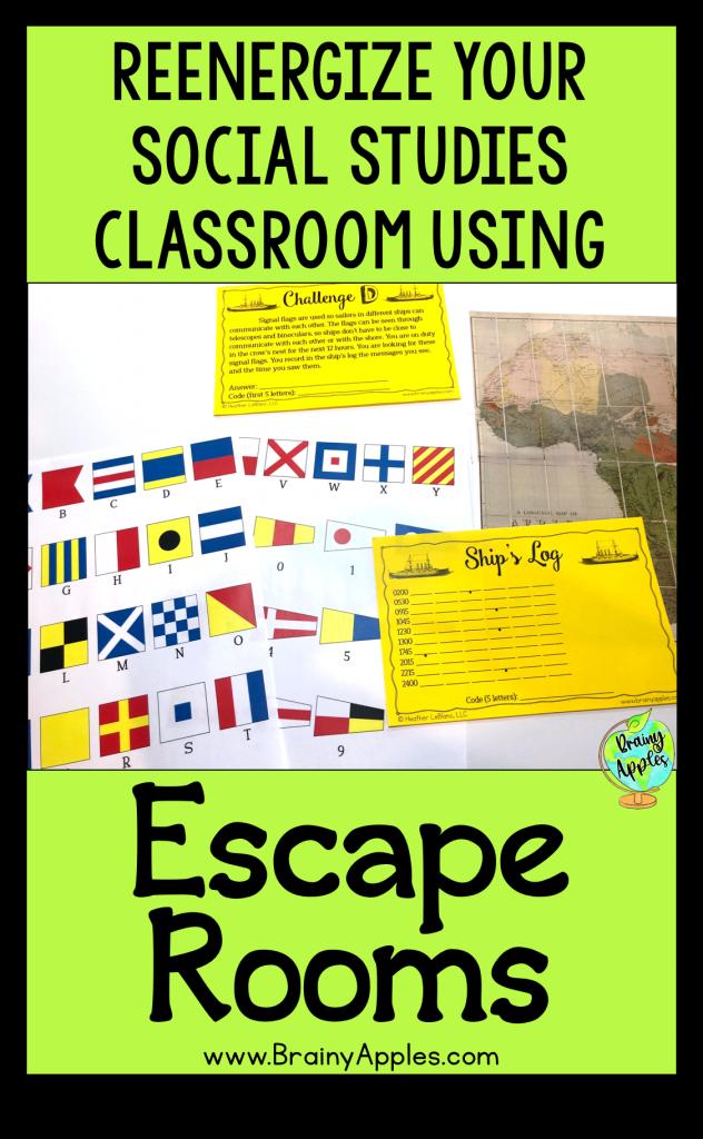 free social studies escape room